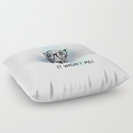 Greyhound with glasses Floor Pillow
