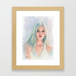 Jennifer Lawrence watercolor Framed Art Print