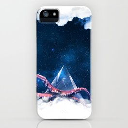 Space octopus iPhone Case