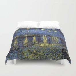 1888-Vincent van Gogh-Starry Night-72x92 Duvet Cover