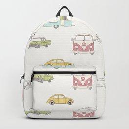 Pastel Car Symphony - Pink Backpack