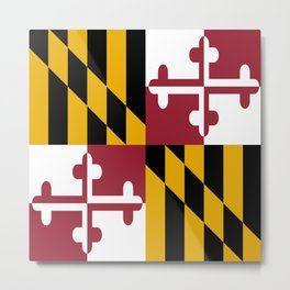 flag of maryland-america,usa,Old Line State,marylander, America in Miniature,Baltimore,Columbia Metal Print