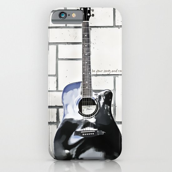 Be Your Song and Rock On in White iPhone & iPod Case