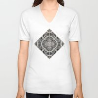 lace V-neck T-shirts featuring Old Lace by Lyle Hatch