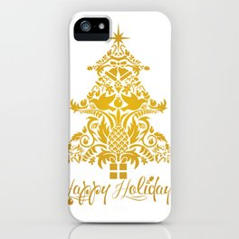 Ornate Pineapple Holiday Tree iPhone Case