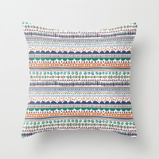 Playful lines Throw Pillow