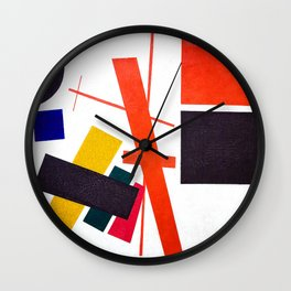Kazimir Malevich - Suprematism: Abstract Composition (new editing) Wall Clock