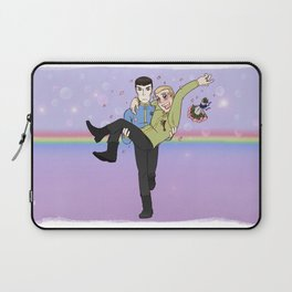 New Frontiers - Kirk and Spock Laptop Sleeve