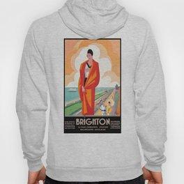 1921 Brighton English Seaside Resort Travel Poster Hoody