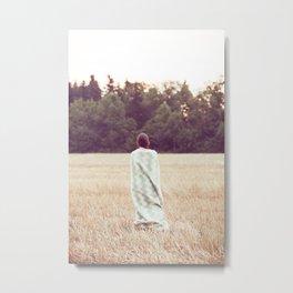 Blanket girl Metal Print