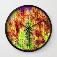 thanksgiving Wall Clocks featuring Thanksgiving by Megan Spencer