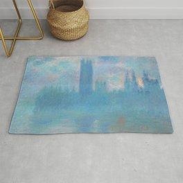 Claude Monet - Houses of Parliament, London Rug