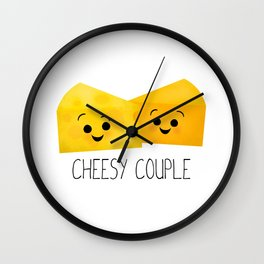 Cheesy Couple | Swiss & Cheddar Cheese Wall Clock