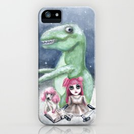 Kimmy and Rex iPhone Case