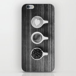 Three Coffee (Black and White) iPhone Skin