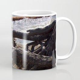 Roots of Huge Old Pine Tree Reaching Into The Lake Coffee Mug