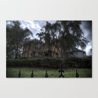 haunted mansion Canvas Prints featuring A Very Haunted Mansion by AtDisneyAgain