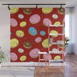 Cute Donuts Wall Mural