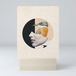 collage art / bird Mini Art Print
