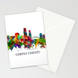 Corpus Christi Texas Skyline Stationery Cards