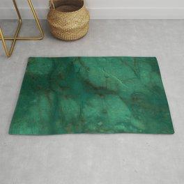 Hunter Green Marble Rug