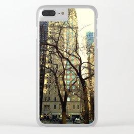 Tree versus Scraper #3 Clear iPhone Case