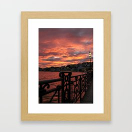 Romantic Sunset View Framed Art Print