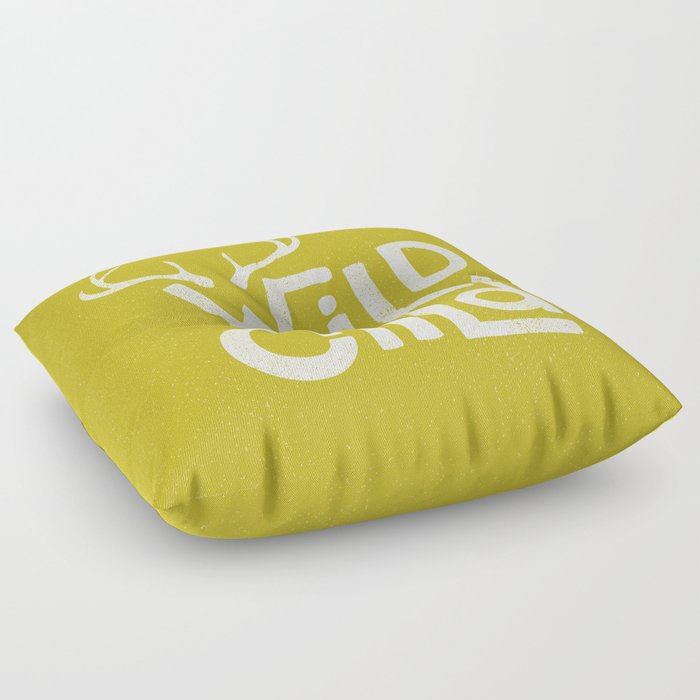 WILD CHILD Floor Pillow by jackofclubs | Society6