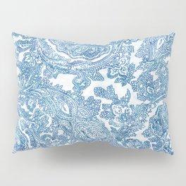 Blue Boho Paisley Pattern II Pillow Sham