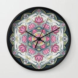 Lotus mandala Wall Clock