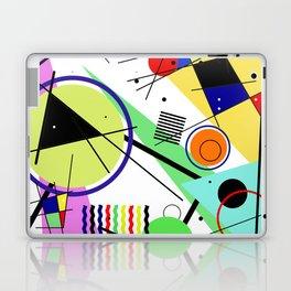 Retro Crazy - Abstract, random, crazy, geometric, colourful artwork Laptop & iPad Skin