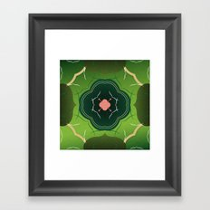 Vintage Tiles Green Framed Art Print