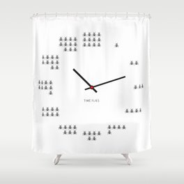 Time Flies Shower Curtain