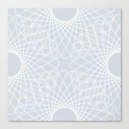 mathematical rotating roses - ice gray Canvas Print