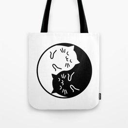 Cute cats Yin Yang sign Tote Bag