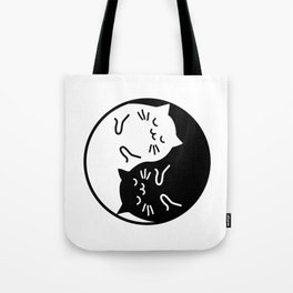 Cute cats Yin Yang sign Tote Bag