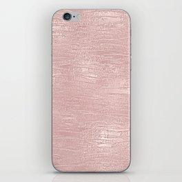 Metallic Rose Gold Blush iPhone Skin
