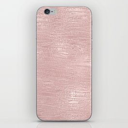 Metallic Rose Gold Blush iPhone Skin