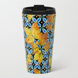 Autumn Leaves Heraldic Travel Mug