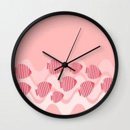 Kitschy Pink Angel Fish Wall Clock