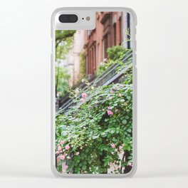 West Village Summer Blooms Clear iPhone Case
