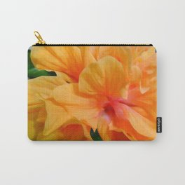 Peach Hibiscus WC Carry-All Pouch