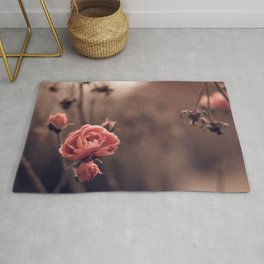 Magnificent Marvelous Red Flower Petals UHD Rug