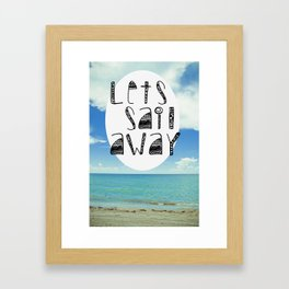 salt water Framed Art Print