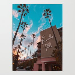 The Famous Beverly Hills Hotel Poster