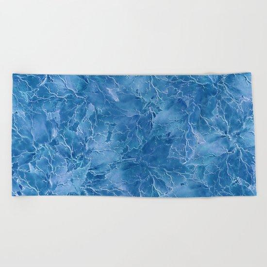 Frozen Leaves 18 Beach Towel