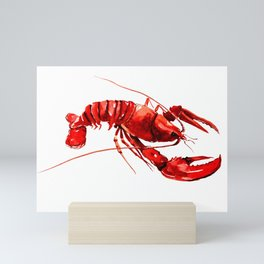 Red Lobster Design illustration Mini Art Print