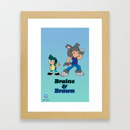 Shiro and Mike-Brains and Brawn Framed Art Print