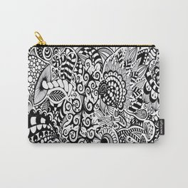 Mushroom madness black and white Carry-All Pouch