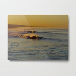 Golden Waves Huntington Beach, California Metal Print